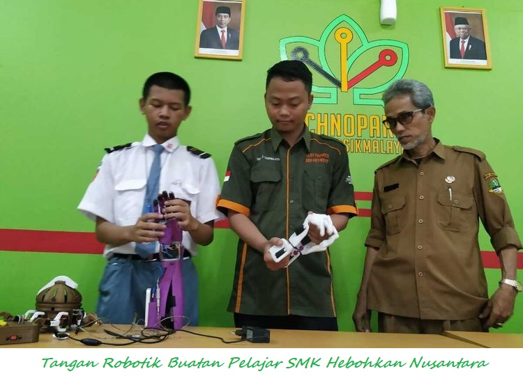 Tangan Robotik Buatan Pelajar SMK Hebohkan Nusantara